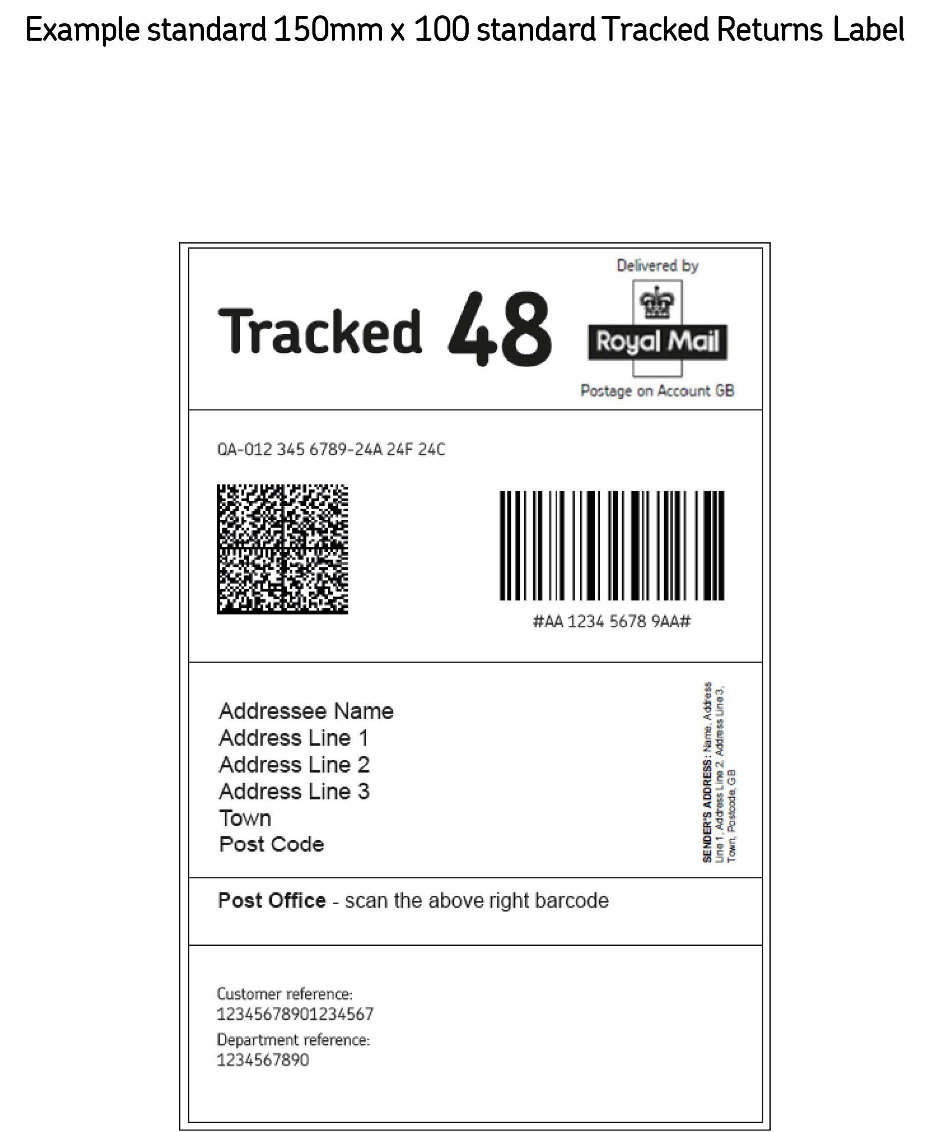 Image Result For Shipping Label Uk Return Address Labels