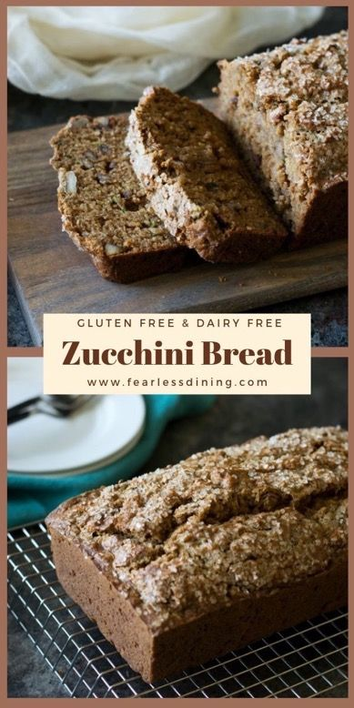 Quick and easy old fashioned gluten free zucchini bread How to make gluten free zucchini loaf Perfect for breakfast or with a cup of tea this easy gluten free and dairy f...