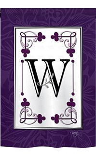 Classic W Monogram 2-Sided Vertical Flag