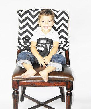 Black Zigzag Tie Chair