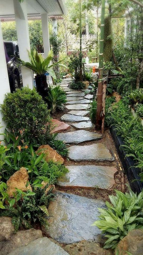 58 Most Amazing Side Yard Landscaping Ideas To Beautify Your Garden Side Yard Landscaping Small Backyard Landscaping Pathway Landscaping