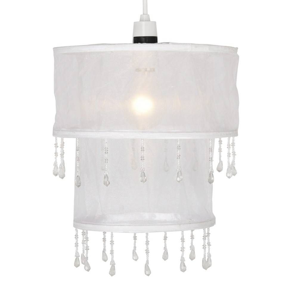 Kinderkamer Hanglamp Kinderlamp Voile Wit Met Kralen In 2018 Little Girl S Bedroom