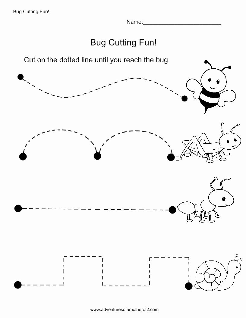 Line Pattern Worksheets For Kindergarten