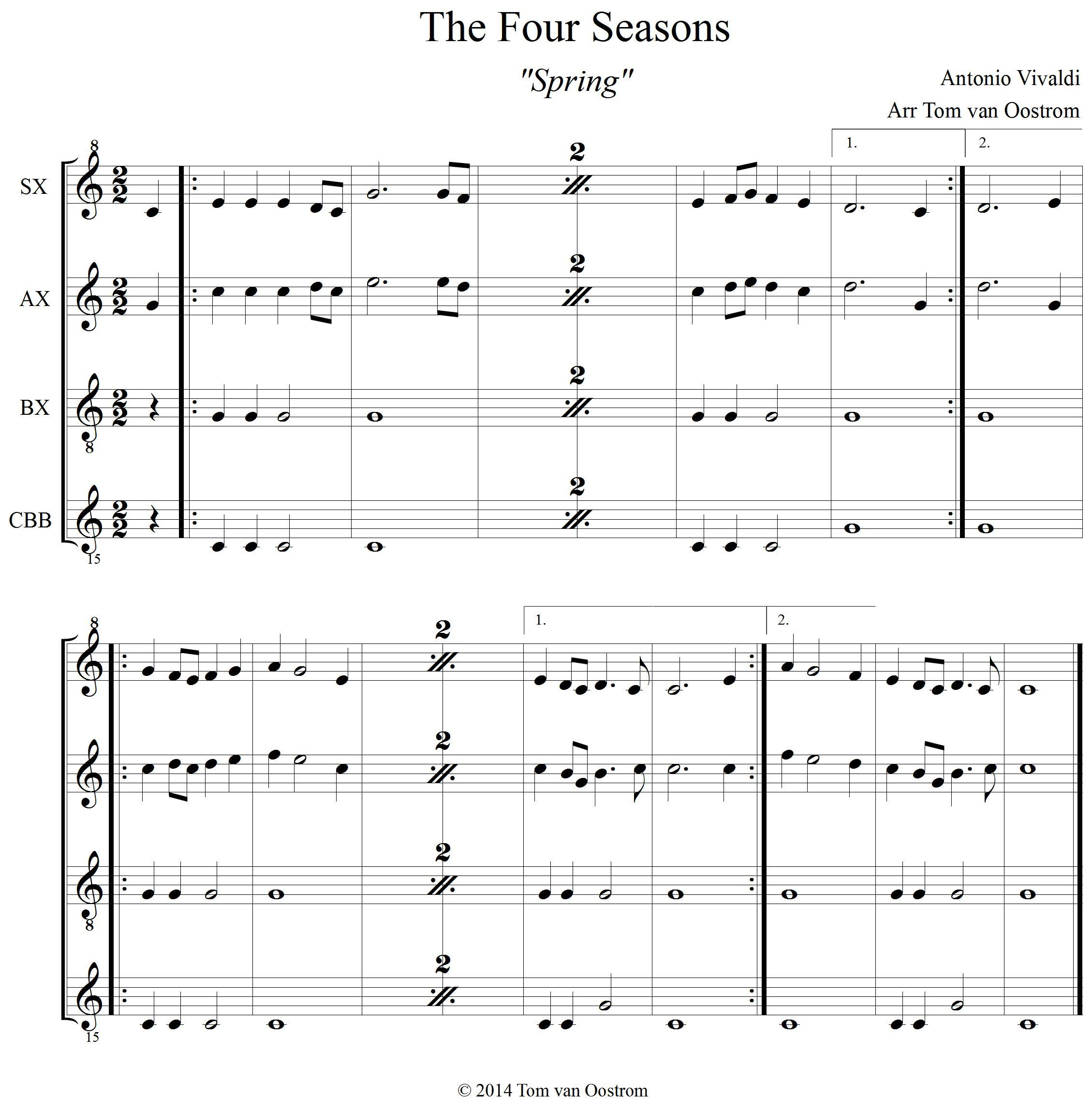 The Four Seasons Spring Orff Arrangement