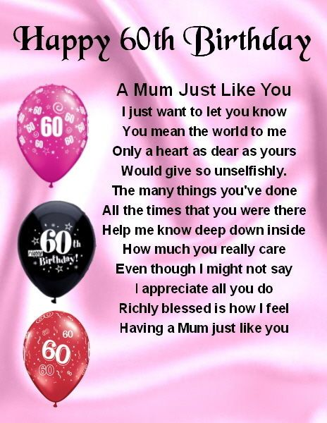 60th birthday present for my mom. I thought of 60 words to describe her,