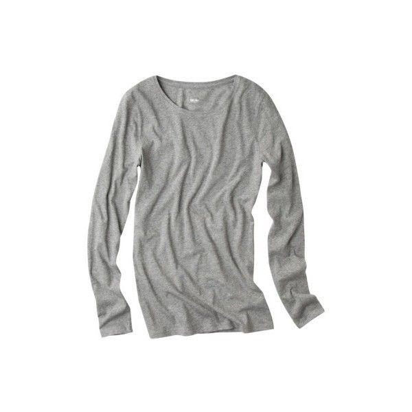 7c93f0fa Mossimo Womens Long Sleeve Tissue Tee Assorted Colors ($13) ❤ liked on  Polyvore featuring tops, t-shirts, grey, shirts, gray shirt, t shirt, long  sleeve ...