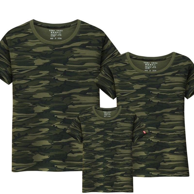 49776b1a4 Twinning Family Matching Outfits T-shirt Mom Dad boys and girls camouflage  cotton100% short-sleeve T-shirt