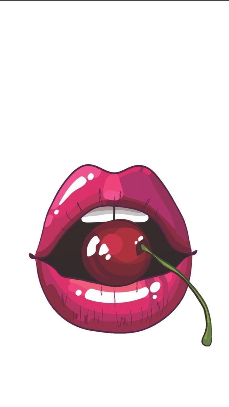 Cherry Lips Pop Art Wallpaper Pop Art Comic Pop Art