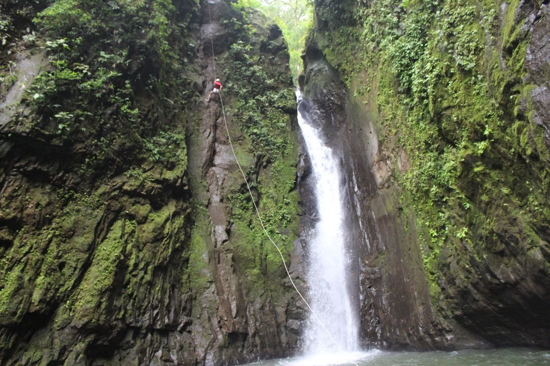 waterfall rappelling. Journey's Entrance Costa Rica