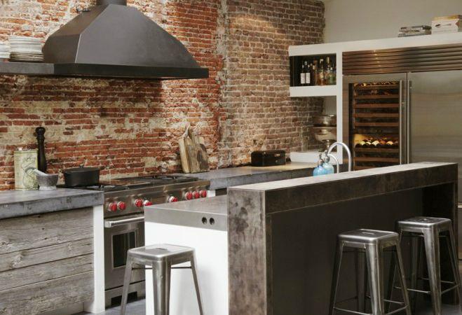 Reforma cocina de estilo industrial muebles de obra con for Puerta cocina industrial