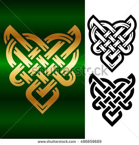 vector small celtic heart isolated on white background fonts rh pinterest co uk