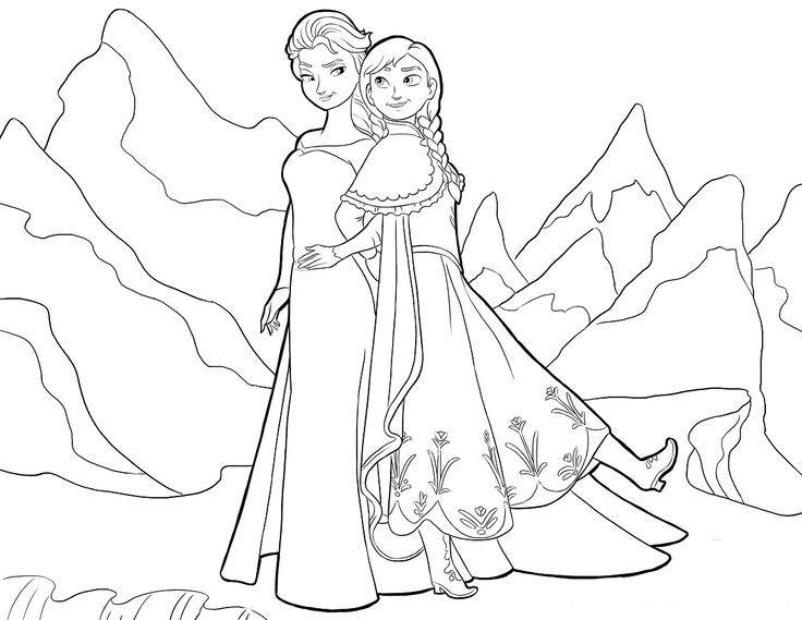 Elsa \ Anna Frozen Pinterest Elsa anna - new elsa christmas coloring pages printable