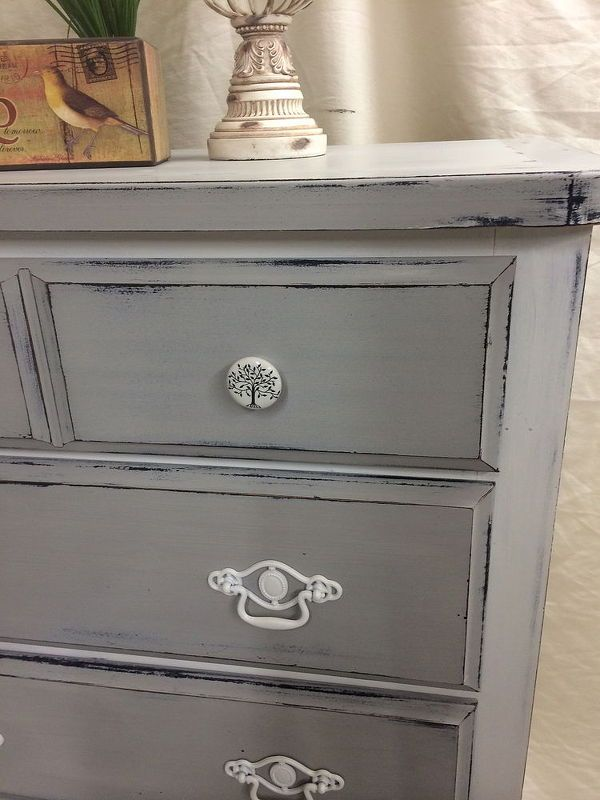 Painted Grey Dresser Transformation Shabby Chic Dresser Shabby Chic Bedrooms Shabby Chic
