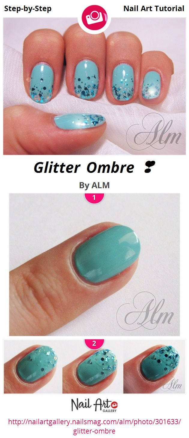 Glitter Ombre By Alm Nail Art Gallery Step Tutorials Nailartgallery