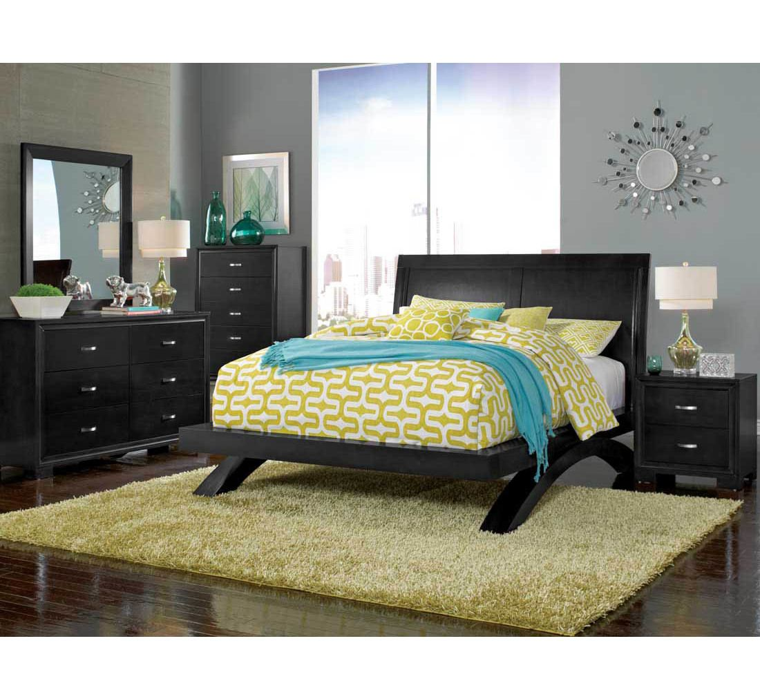 Raven Black 5 Pc Queen Bedroom Group | Badcock U0026more