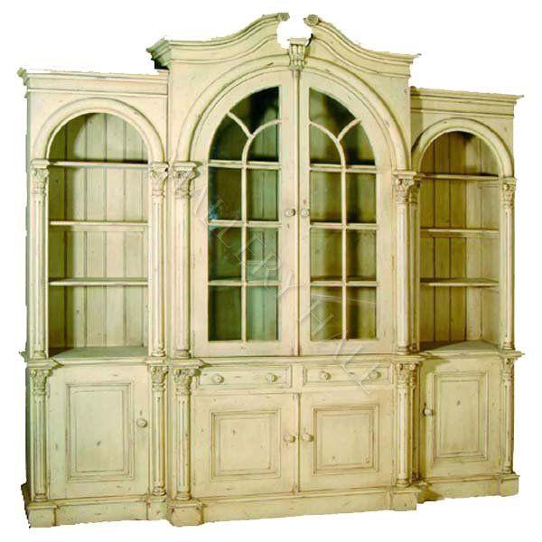 8 Foot Elegant Bookcase Unit 5 049 00 Arched Doors Furniture