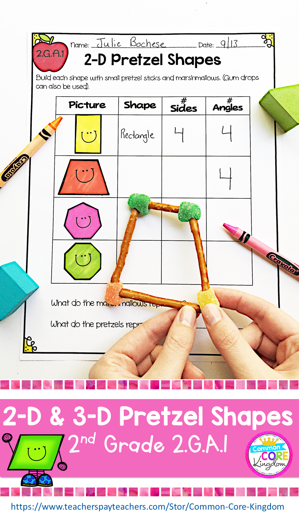 2 D And 3 D Shape For Second Graders I Designed These Worksheets Activities And Assessments And My Second Gra Free Math Worksheets Free Math 1st Grade Math [ 1701 x 983 Pixel ]