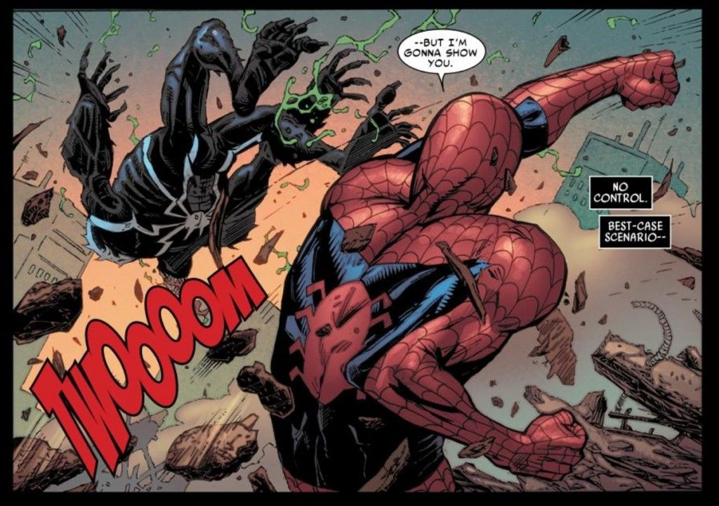 Image result for spider man punches venom