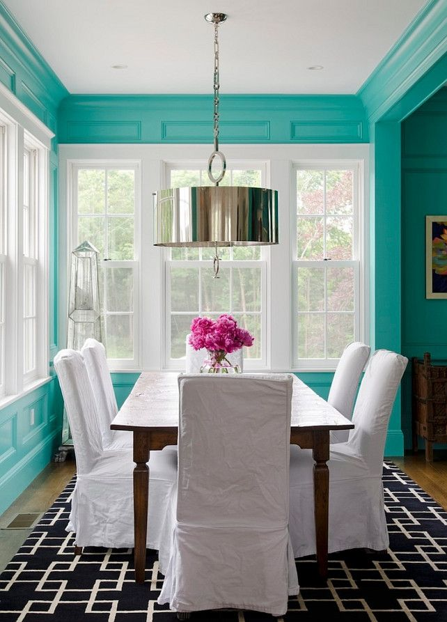 Turquoise Paint Color Bright Teal Is