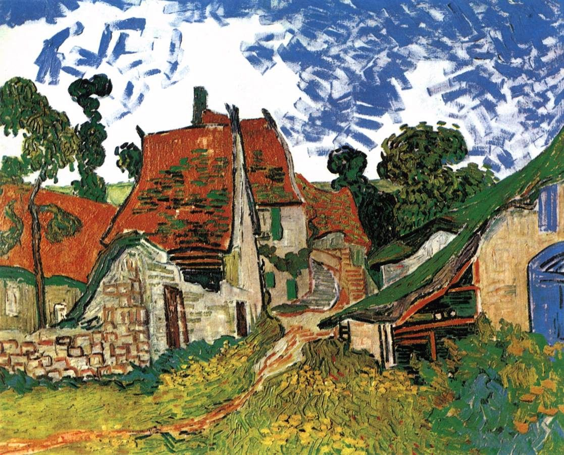 Vincent Van Gogh, Rue à Auvers, 1890. Helsinki, Ateneumin ...