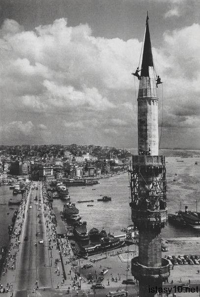 Galata Bridge Istanbul 1957