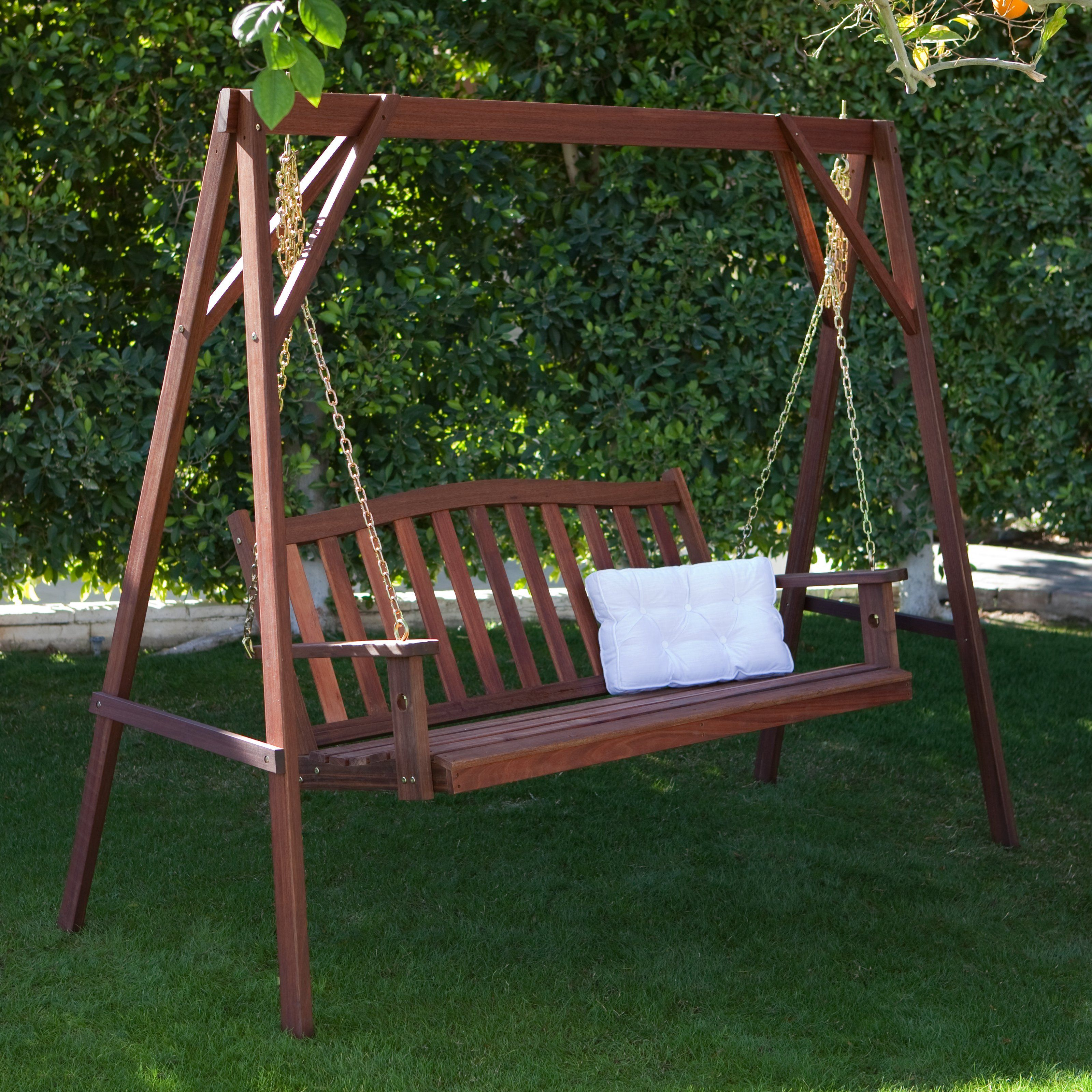 Delicieux Wood Porch Swing Stand $159.98