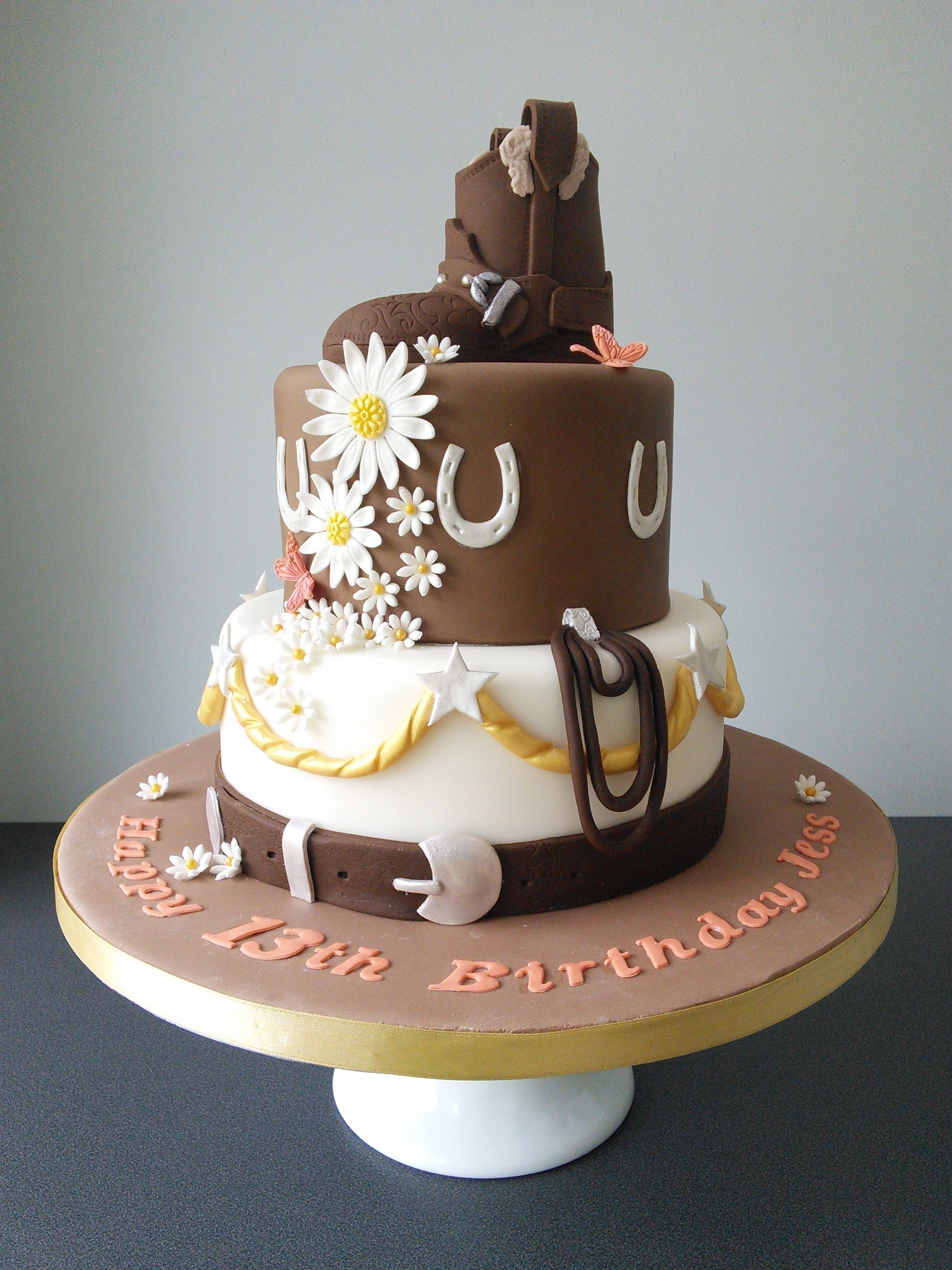 Stupendous 27 Elegant Image Of Cowgirl Birthday Cakes Cowgirl Kuchen Personalised Birthday Cards Bromeletsinfo