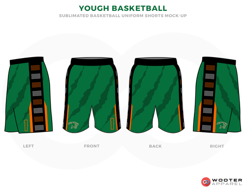 Yough Basketball Green Orange Black White Custom Basketball Uniforms Jerseys Shorts Basketball Uniforms Custom Basketball Custom Basketball Uniforms