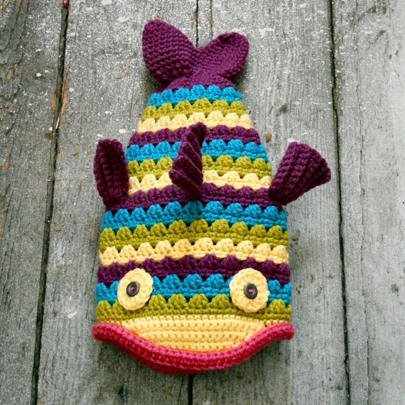 Crochet Fish Hat Pattern And Tutorial Pinterest Crochet Fish
