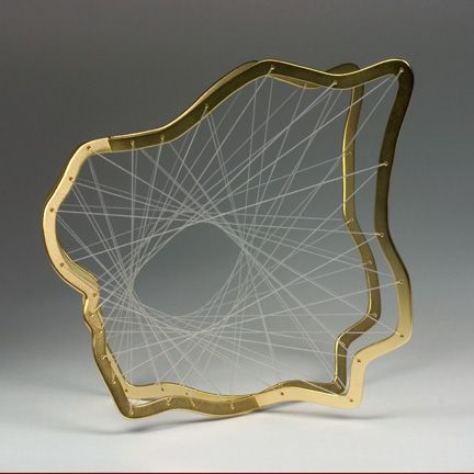 Wrist Expansion 19, 2007 - Gold-plated brass frame, white elastic cord.  ALEXIA COHEN-USA · , Beautiful Pic. http://www.alexiacohen.com/