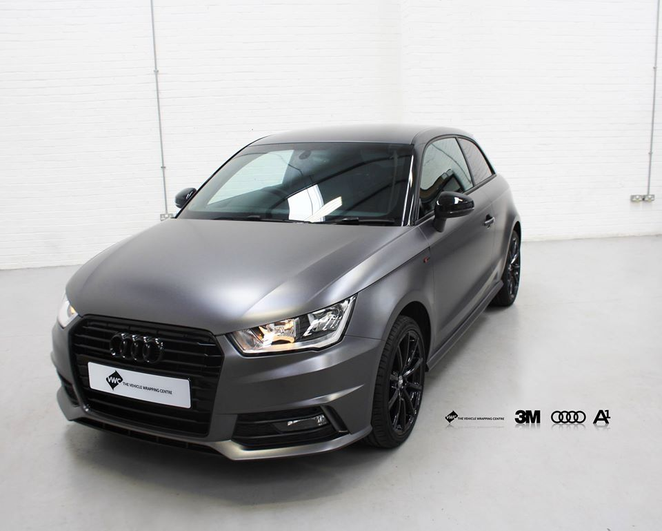 This Audi A1 Came To Us For A Full Wrap In 3m Satin Dark Grey