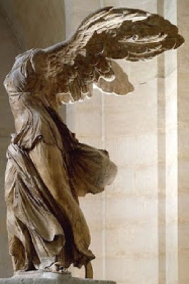 Winged Victory The Louvre In Paris France Roman