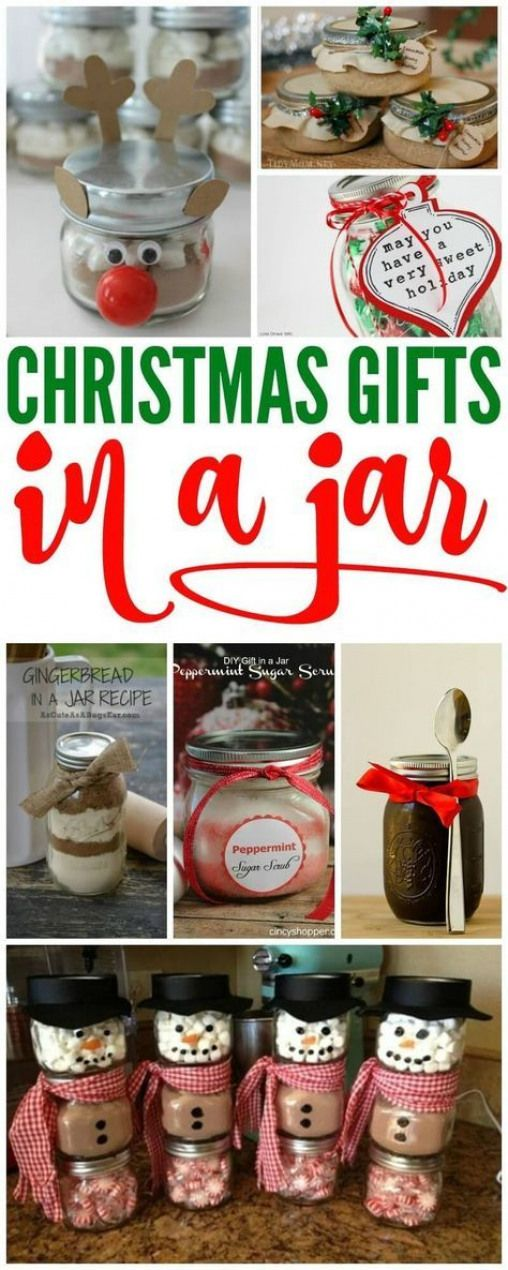 Christmas Gifts in a Jar! The cutest mason jar gift ideas for neighbors friends
