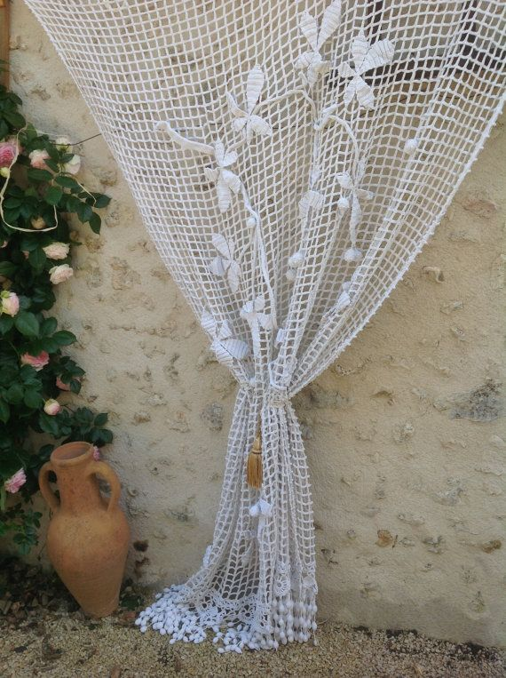 Check Out FREE SHIPPING Large, 3D, French Door Or Window Panel Curtain,  Country