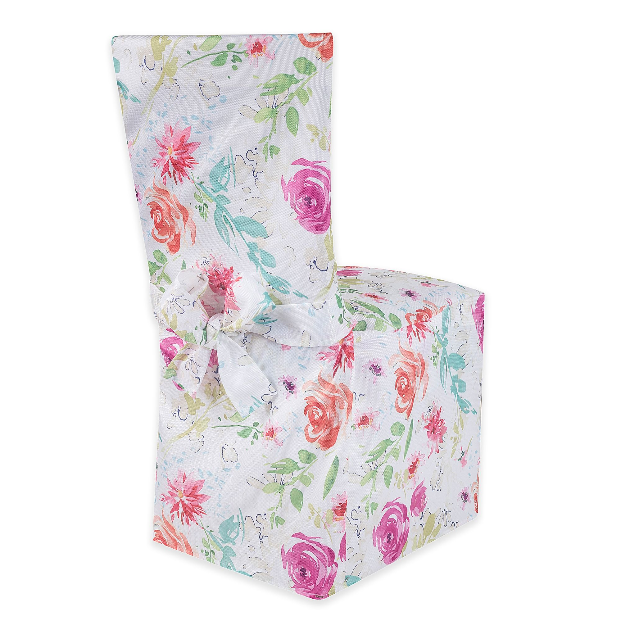 Spring Splendor Floral Dining Chair Cover Bed Bath Beyond Dining Chair Covers Chair Cover Dining Room Chair Covers