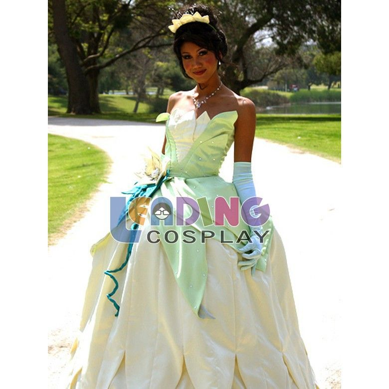 Custom-made Tiana Dress Princess And the Frog Cosplay Tiana Costume Adultu2026  sc 1 st  Pinterest : princess tiana costume adult  - Germanpascual.Com