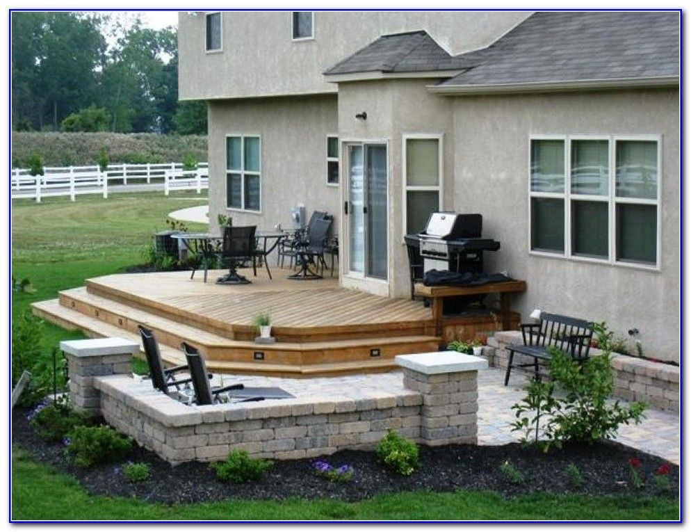 small back deck | ... backyard decks for small es. hot tub ...