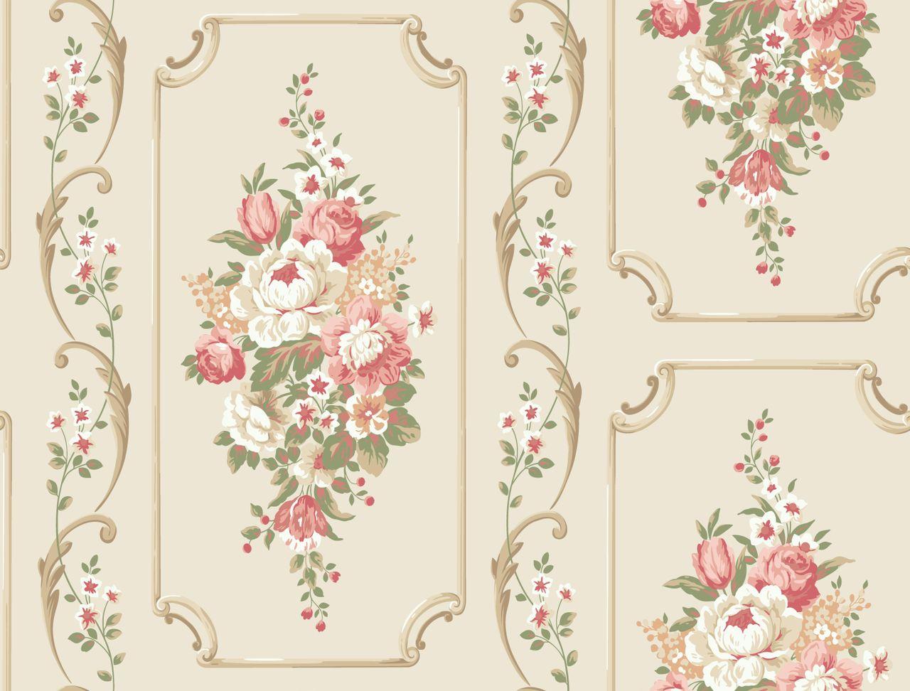 Casabella ii ba4501 floral panel wallpaper