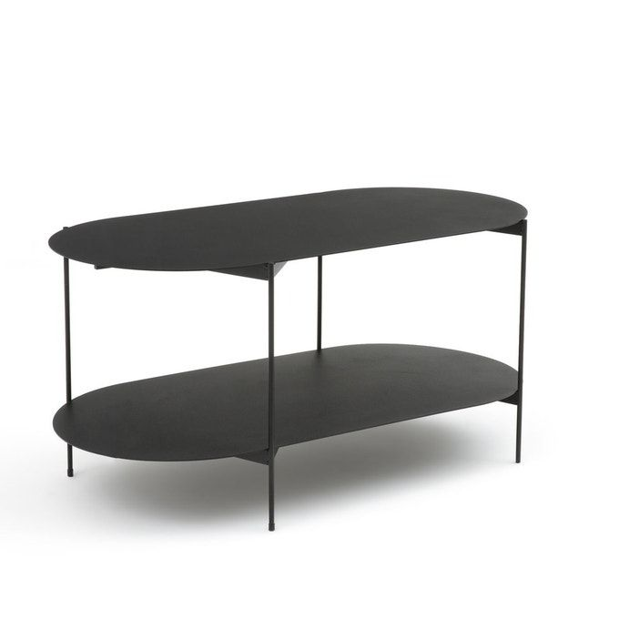 Table Basse Double Plateaux En Acier Oblone Noir La Redoute Interieurs La Redoute Table Basse Double Plateau Table Basse La Redoute Interieurs