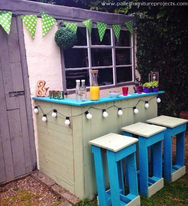 Different Ideas For Pallet Recycling Bar En Palette Palette Diy Et Palettes Peintes