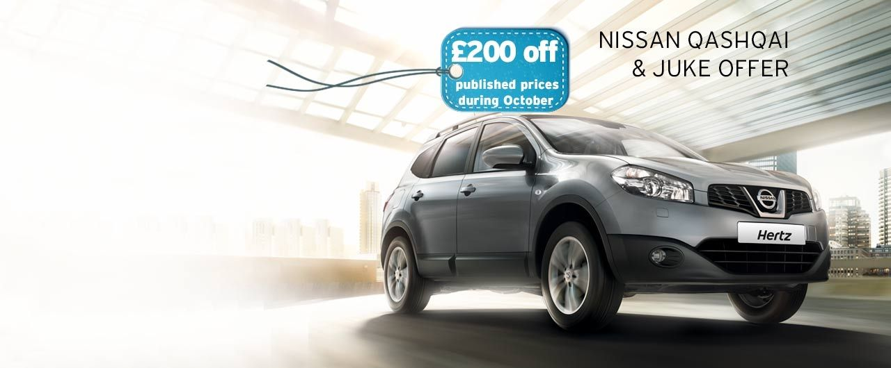 Nissan Qashqai & Juke Offer £200 Off published prices