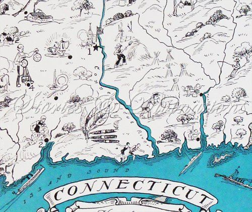 Connecticut Map - Vintage Map of Connecticut - A Fun and ...