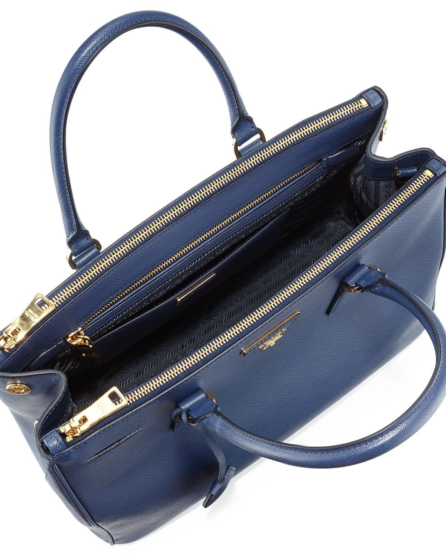 404dd1188f6b86 Saffiano Small Double-Zip Executive Tote Bag, Blue (Astrale)   quero ...