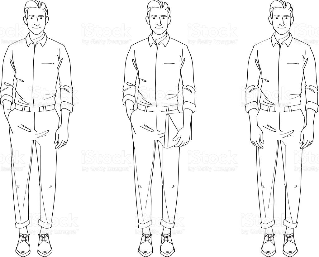 This is a picture of Dashing Line Drawing Man