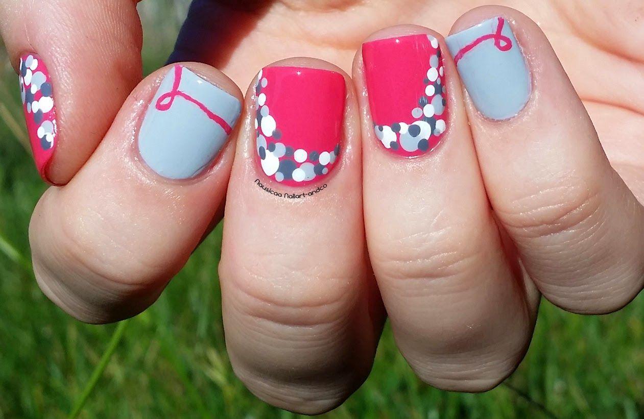 Nail art and co nailstorming octobre rose nails pinterest