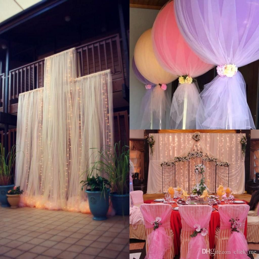 Simple Second Wedding Ideas: DIY Custom MadeTulle Wedding Decorations Chair Covers