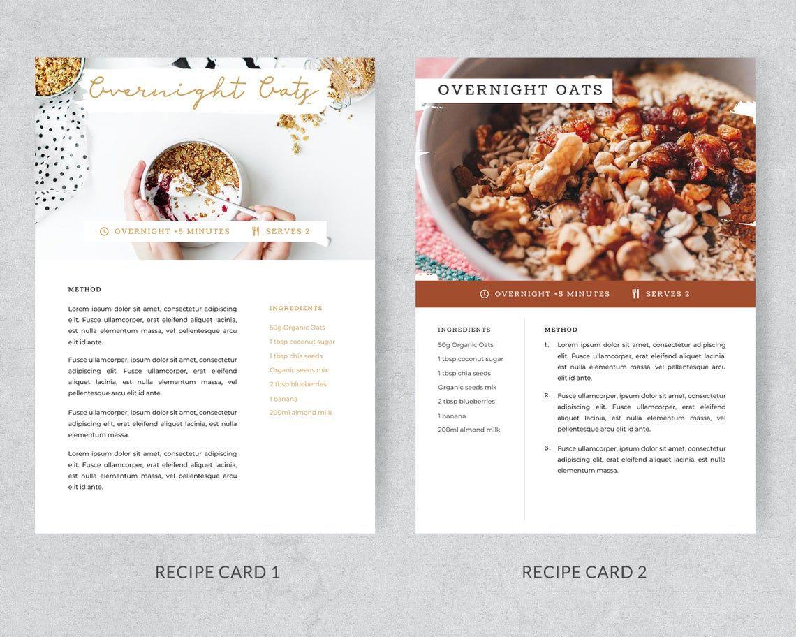 Modern Recipe Card Template Recipe Cards Printable Recipe Etsy Recipe Cards Recipe Cards Template Recipe Template