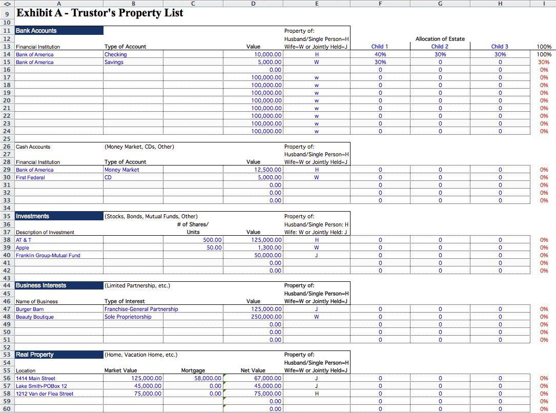 20 Estate Planning Worksheet Template in 2020 Simple