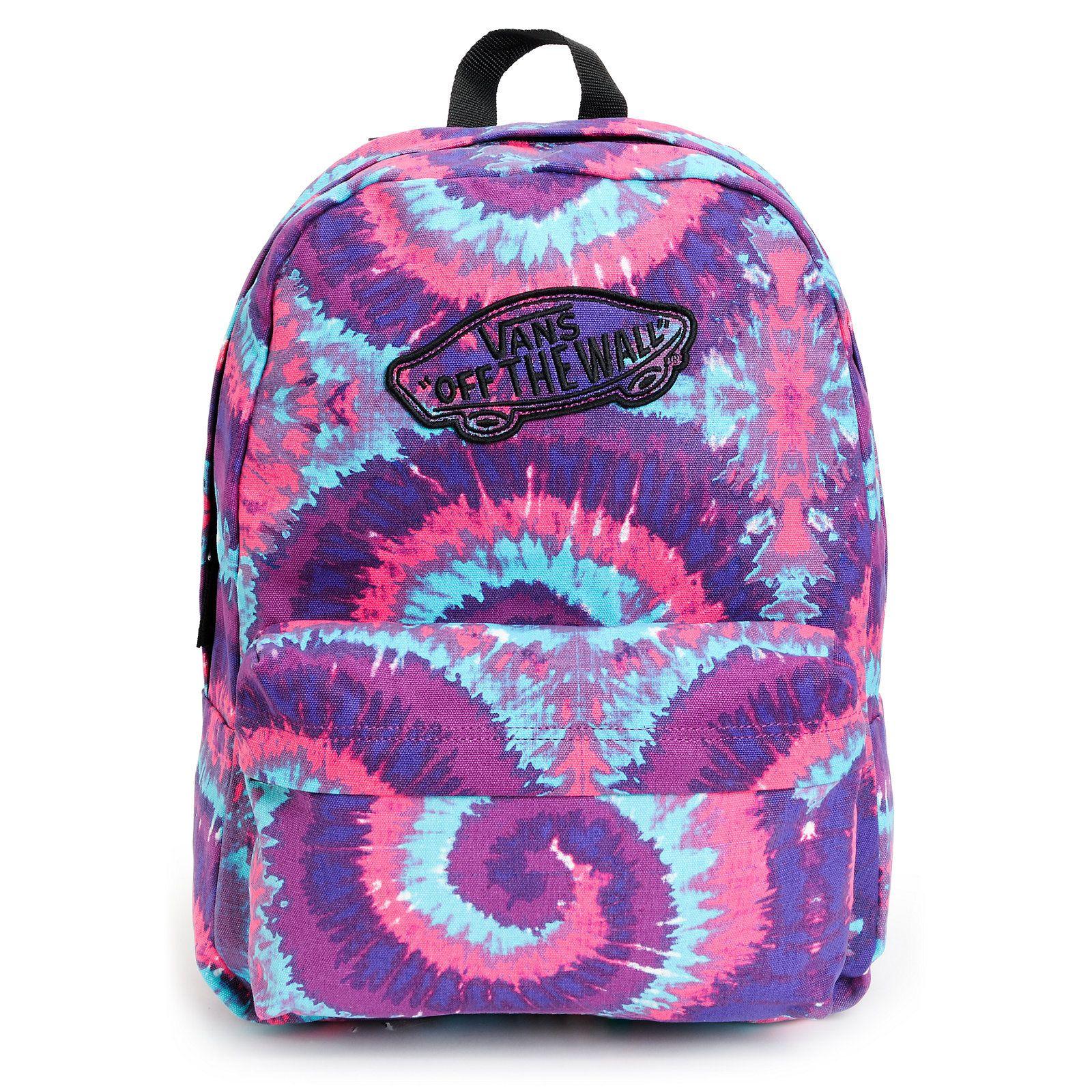 vans realm pink purple tie dye backpack b a c k p a c k s