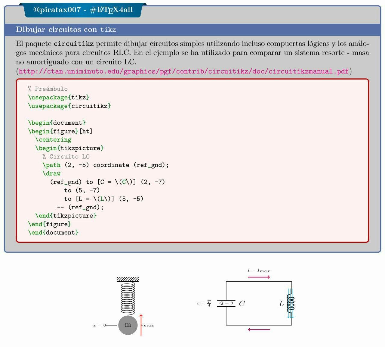 Circuito Lc : Dibujar circuitos con tikz latex document editor